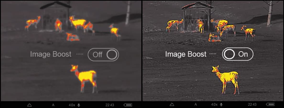 Termokaamera Pulsar Image Boost tehnoloogia