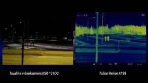 Termokaamera Pulsar Helion XP38 vs tavaline videokaamera