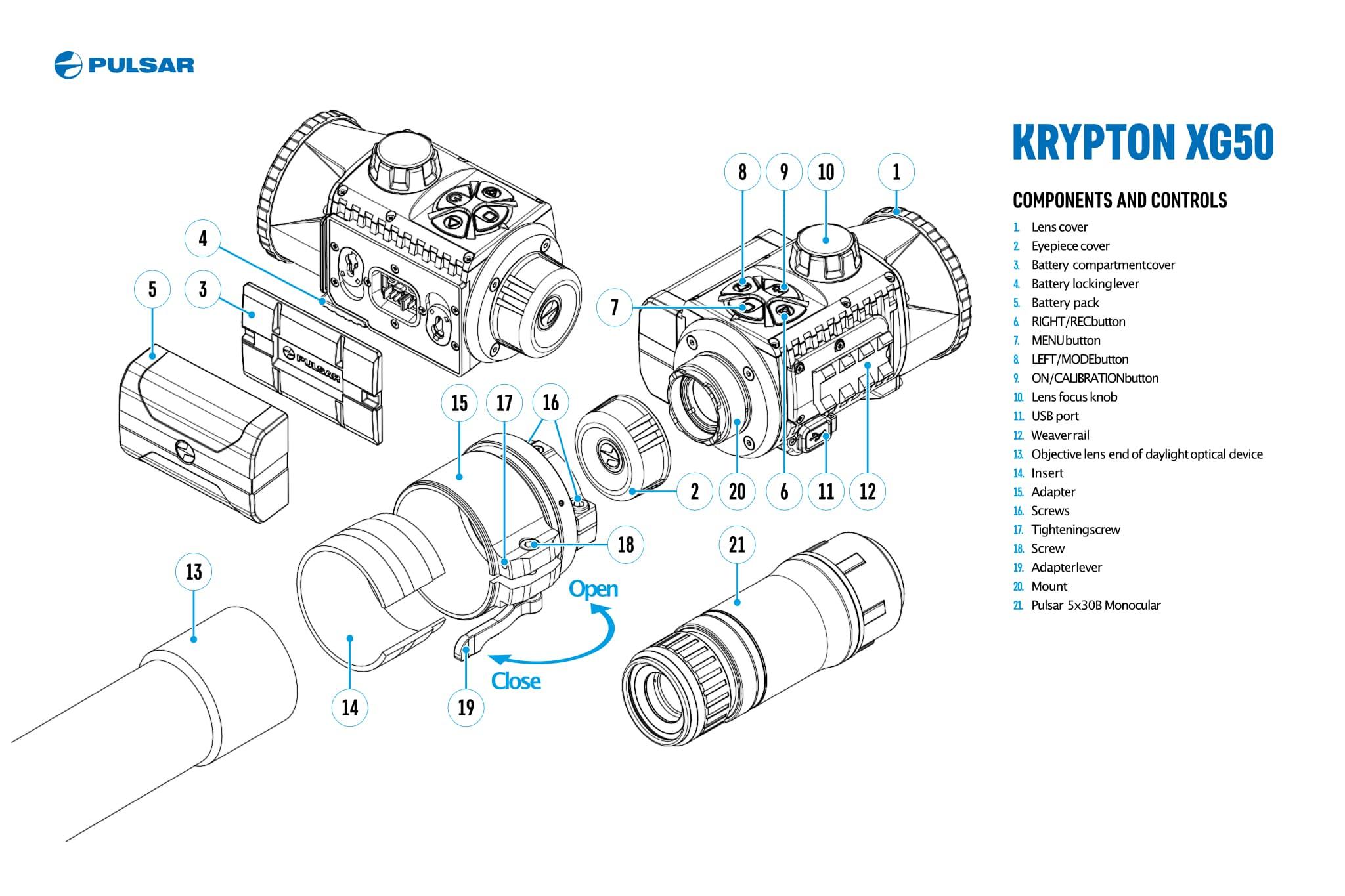 Termokaamera Pulsar Krypton XG50